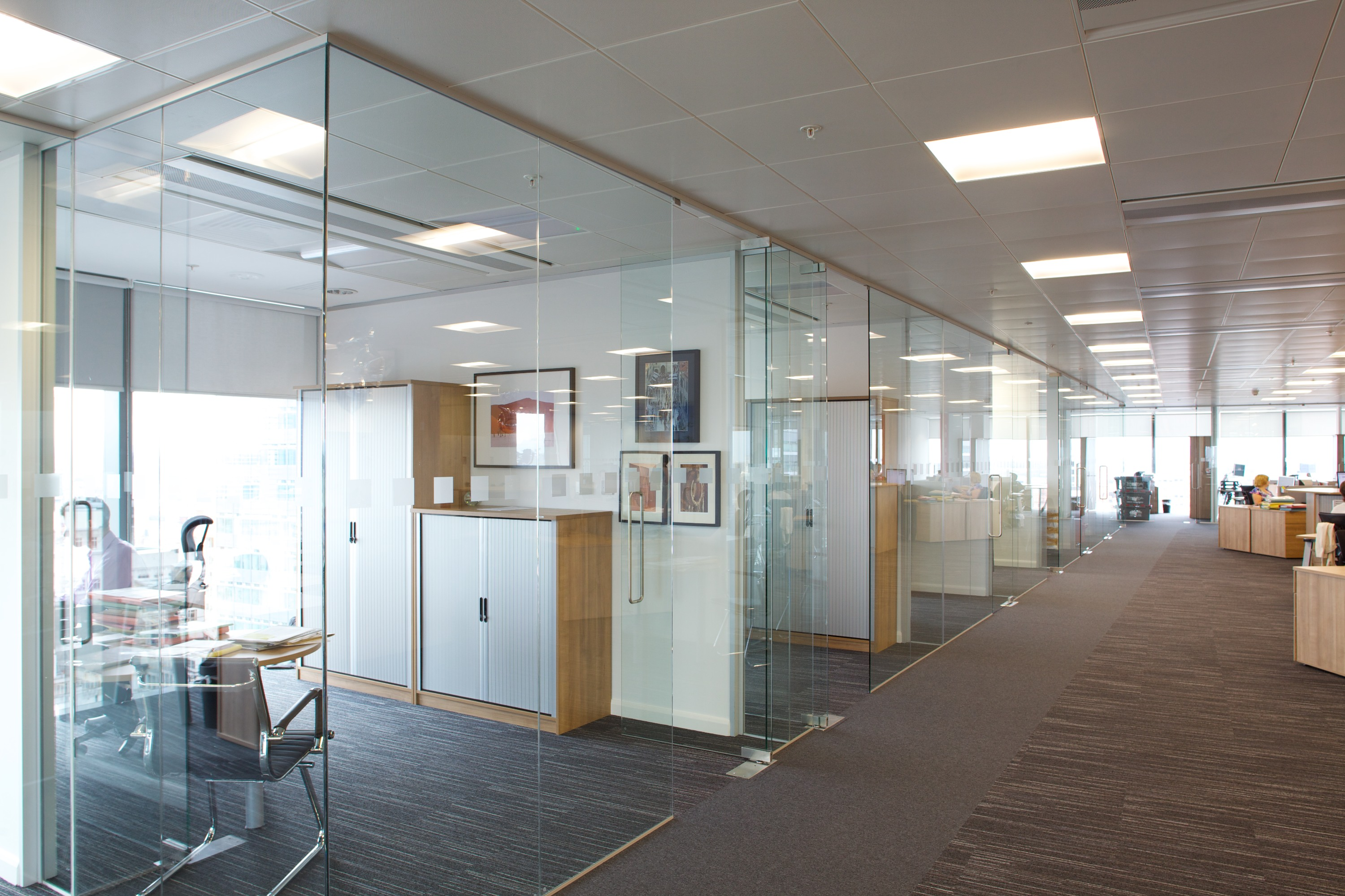 seamless glass partitioning transforms whitespace