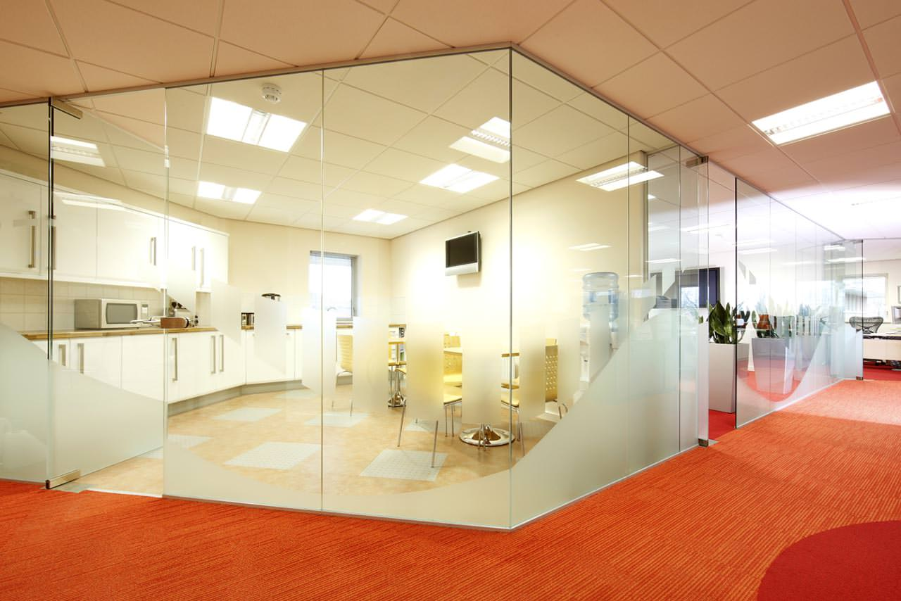 Office Glass Branding Glass Office Partitions