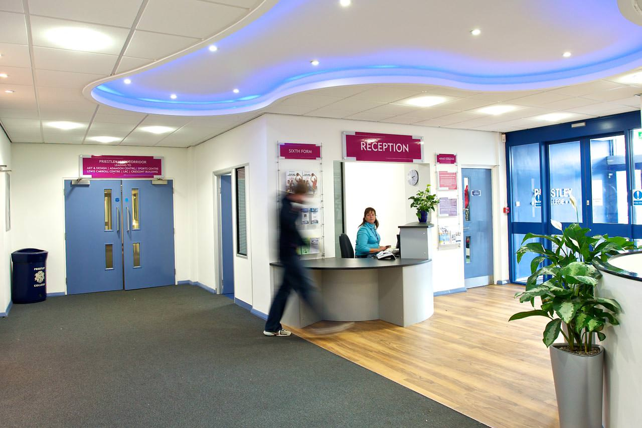 Priestley College Reception Area Warrington Manchester