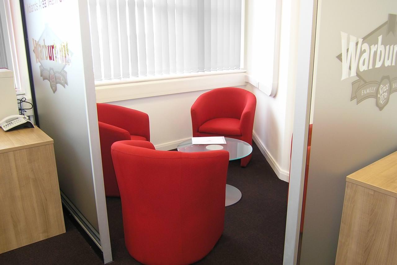 Warburtons, Office design Birmingham, Stoke, Stafford, Wolverhampton, Midlands
