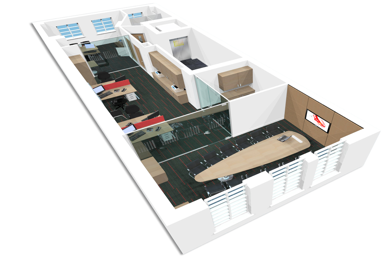 3d office design whitespace consultants Office design 3d
