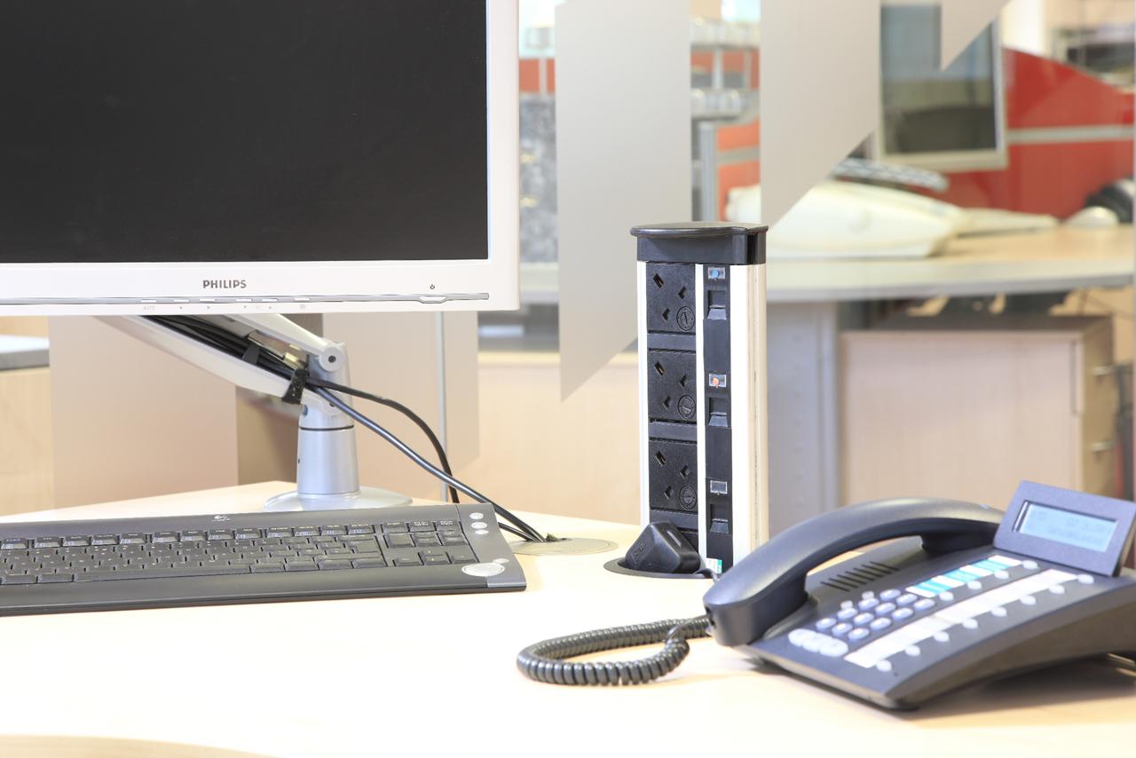 Desk Cable Management, Bolton, Manchester, Lancashire, Cheshire, Liverpool, Birmingham, Leeds, UK