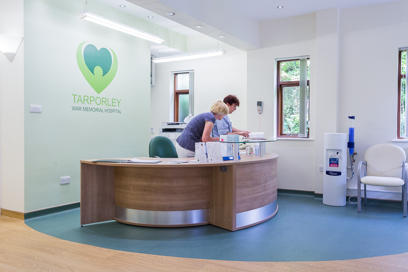 Tarporley War Memorial Hospital, reception area