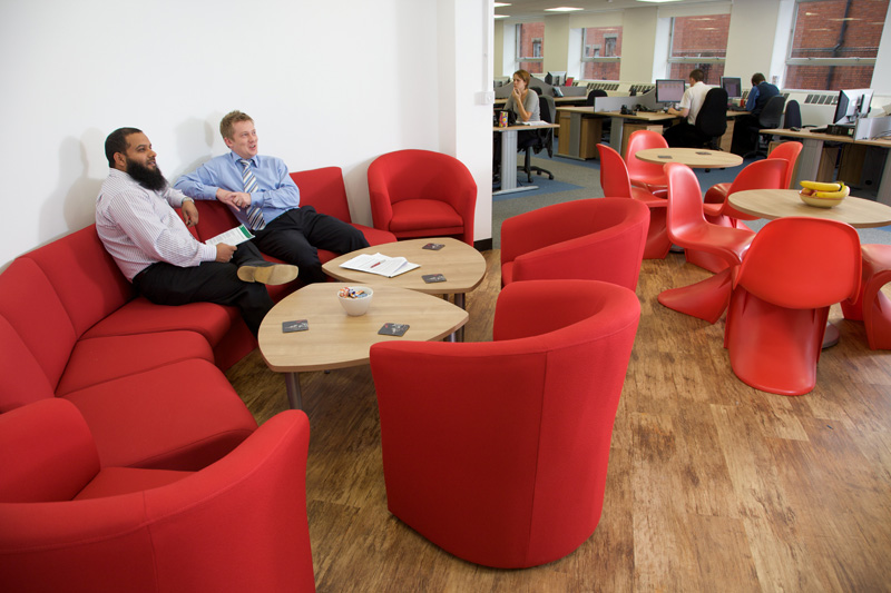 Office breakout areas, Bolton, Manchester, Lancashire, Cheshire, Liverpool, Birmingham, Leeds, UK
