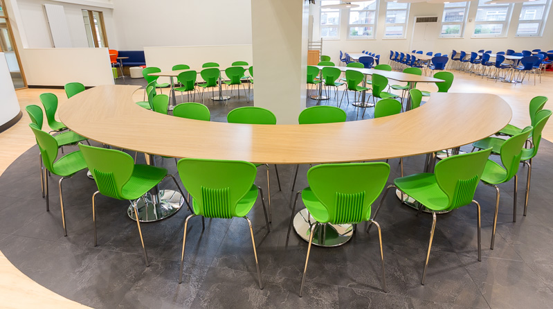 Furniture for School Dining Areas, Bolton, Manchester, Lancashire, Cheshire, Liverpool, Birmingham, Leeds, UK